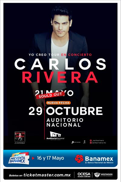 Carlos Rivera Auditorio Nacional nueva fecha