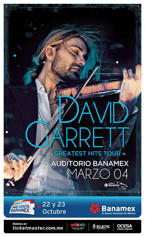 David Garrett Auditorio Banamex 2016