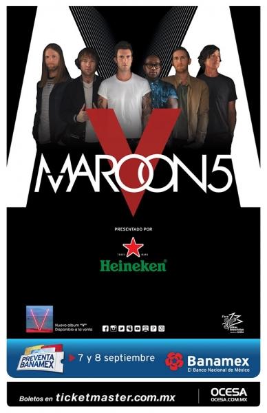 concierto Maroon 5 Guadalajara
