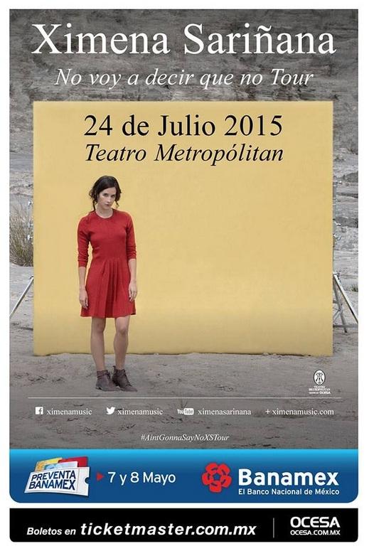 Ximena Sariñana Teatro Metropólitan