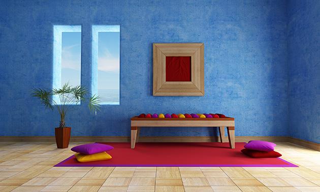 pintar casa azul
